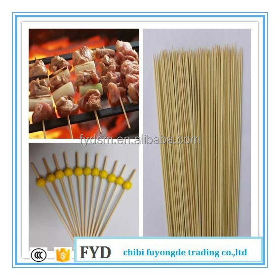 top grade bulk flat bamboo pick skewer stick