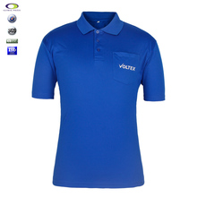 Embroidered Blue New Design Polo T Shirt Polyester