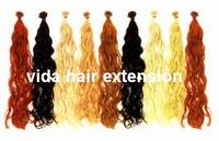hair extension with keratin