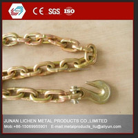 wholesales G70 steel chain with hooks and yellow / color zinc plated from Chinese factory