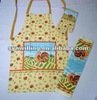 cheap and high quality fire-proof oven mitt apron set for kitchen