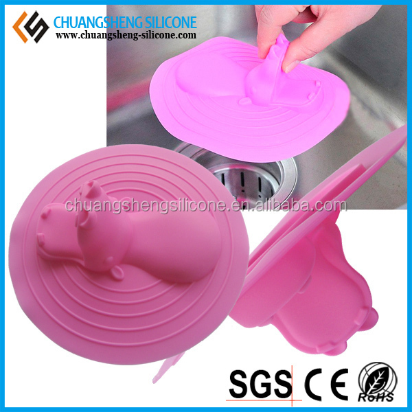 Round shaped candy color silicone plug, Water drain plug, rubber sink plug
