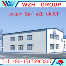 china supplier prefabricated houses / light steel frame house / steel structure warehouse