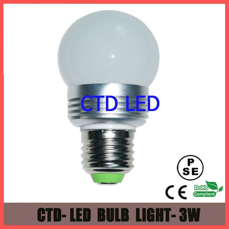 50mm E27 3W Led Bulb Light