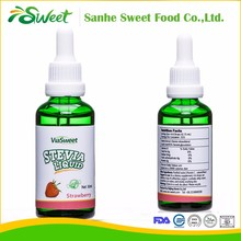 Natural sugar substitute stevia liquid drops