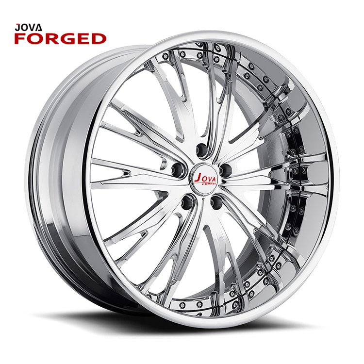 One Piece LightWeight Wheels Silver Color Sports Car Rims