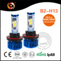 High power new generation low beam 30W 3000LM high beam 60W 5000LM COB chip IP68 H13 Car LED Headlight