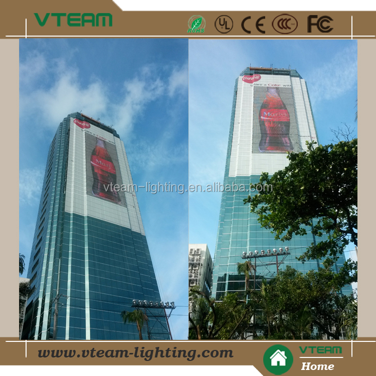 LED Full Color mesh video display,soft led transparent display