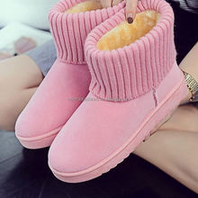 monroo hot sale snow boot pure coloe women warm boots brushed thicken winter shoes lady