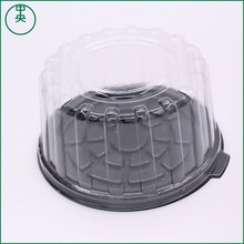 Round cake box clear plastic high quality manufacturer eco friendly cake container take away round cake box