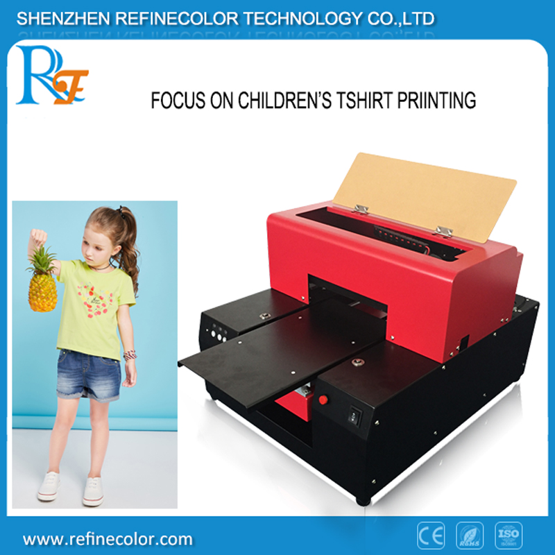 Cheap A4 Flatbed direct to garment inkjet t shirt printer for sale