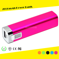 2200mAh Metal Aluminum Cuboid Power Bank, LCD Emergency Bulk Power Bank Supply 2200mAh