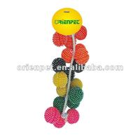 good selling vinyl dog toy with rope