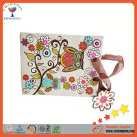 Ribbon Handle Glitter Paper Shopping Bags/Gift Bags