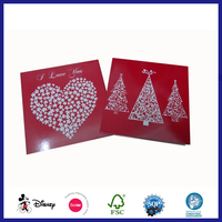 A4 Size Merry Christmas Photo Paper Greeting Card