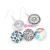 Fashion Jewelry Wholesale Chunky Snap Jewelry Interchangeable Snap Earrings For DIY Button Jewelry Brincos