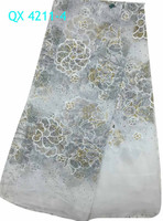 Cord Lace Fabric Bridal Tulle Lace with rhinestone QX 4211-4