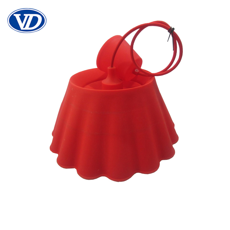 E27 colorful Silicone Pendant Lamp cord kit with Big Red lamp cover