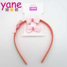 Wholesale bow clips headbands fashion pink hair accessories baby bows