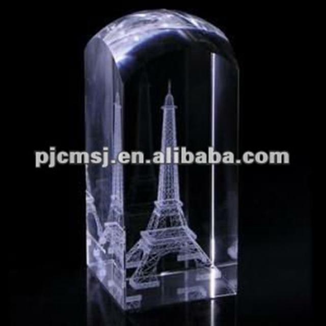 Customized 3D Cube Eiffel Tower Light For London Souvenirs