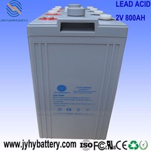 solar home battery, 2V 800AH Deep Cycle AGM Rechargeable Solar Storage Battery