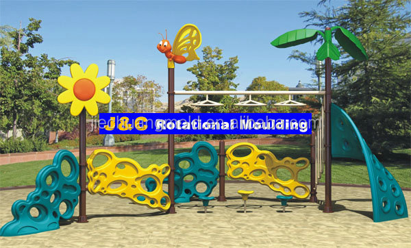 outdoor playground equipment stone climbing part by aluminum rotational mould