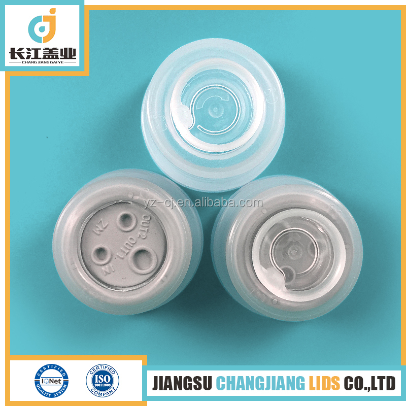 Combinational polypropylene lids used for plastic infusion containers
