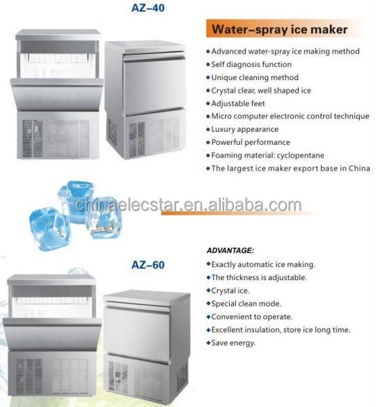 Undercounter Ice Maker and Countertop Ice Maker, Stainless Steel Ice Maker