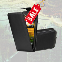 Leather Flip Case Cover Pouch for Samsung Galaxy S3 Mini i8190 / S4 Mini i9190 and other Samsung models