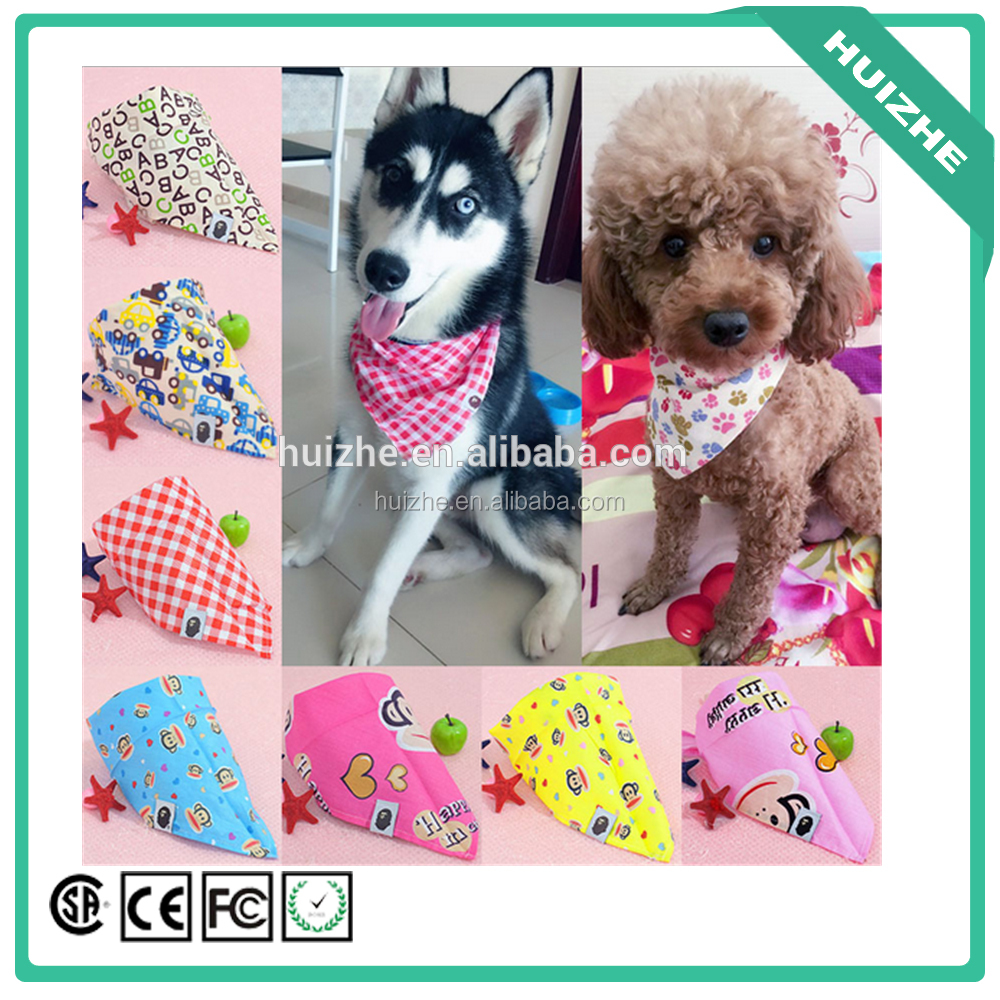 Factory direct cheap price wholesale cartoon small animals pet scarf accesspry, dog pet scarf accessory