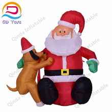 High quality giant christmas inflatable old man hot sale christmas decoration 2017 from China promotion santa claus inflatable