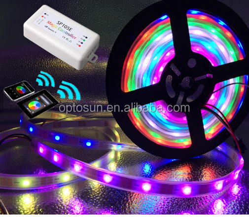 DC 5V 60leds/meter white/black PCB Digital Addressable WS2812B RGB LED Strip Lights