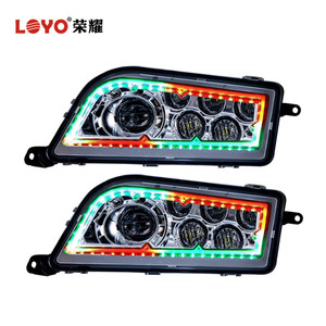 New Arrived RGB halo ring 4x4 ATV UTV led headlight for RZR 1000 Polaris