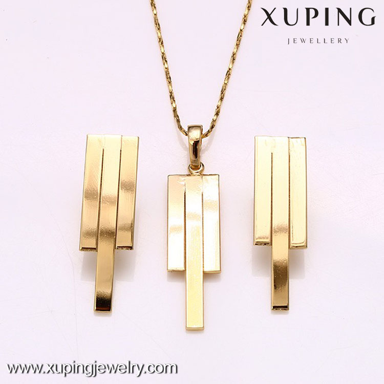 62225 guangzhou jewelry market 14k gold old style simple design jewelry sets