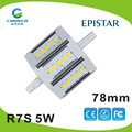 SMD5630 5W AC85-265V aluminum led r7s lights with 2 years warranty