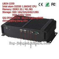 "fanless low power consumption industrial computer, LBOX-2550, support 2.5"" HDD SATA, mSATA, SSD"