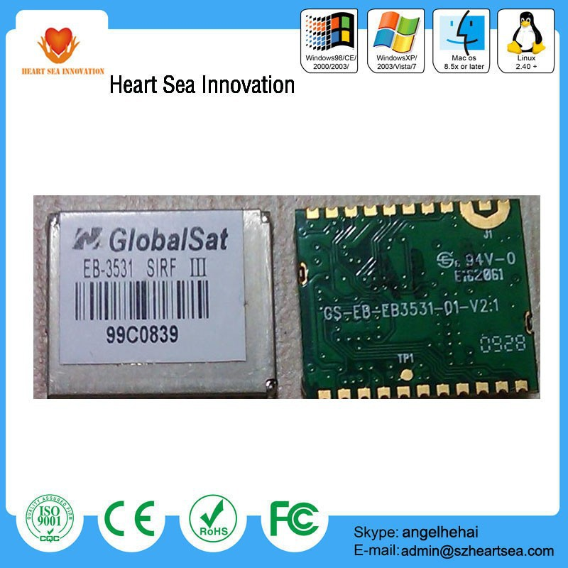 Cheap price EB-3531/ET314 globalsat smallest sirf star iii gps chipset