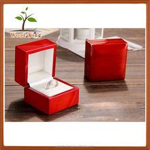 Manufacturer Provides Straightly Custom Gift Boxes Custom Logo Wooden Ring Jewelry Box