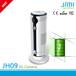 battery operated gsm 3g remote control mini auto alarm ip cctv camera