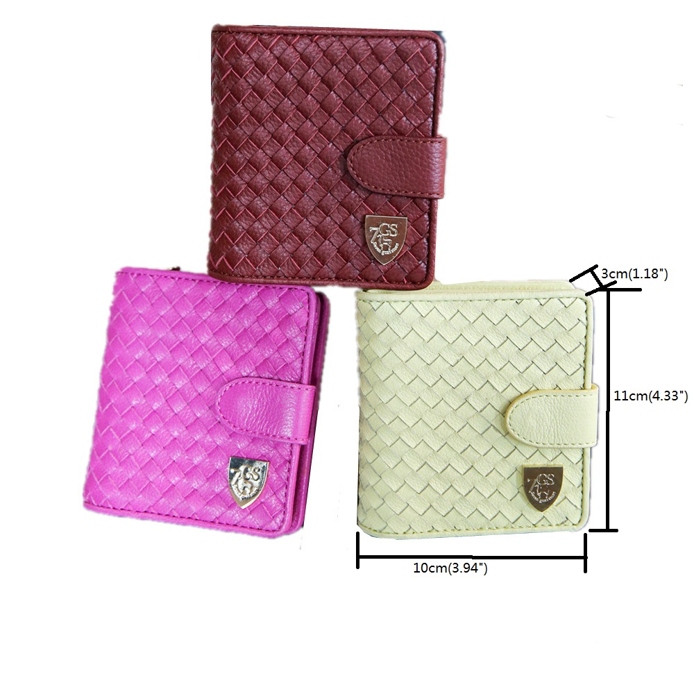 Rfid woven belts Wallet with metal plate logo