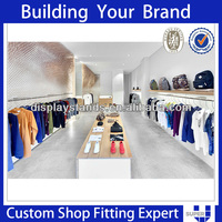 Fashion showroom interior design clothing boutique equipment in furniture