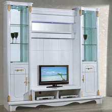 CHINESE FACTORY WOODEN HOME FURNITURE LED TV WALL UNIT