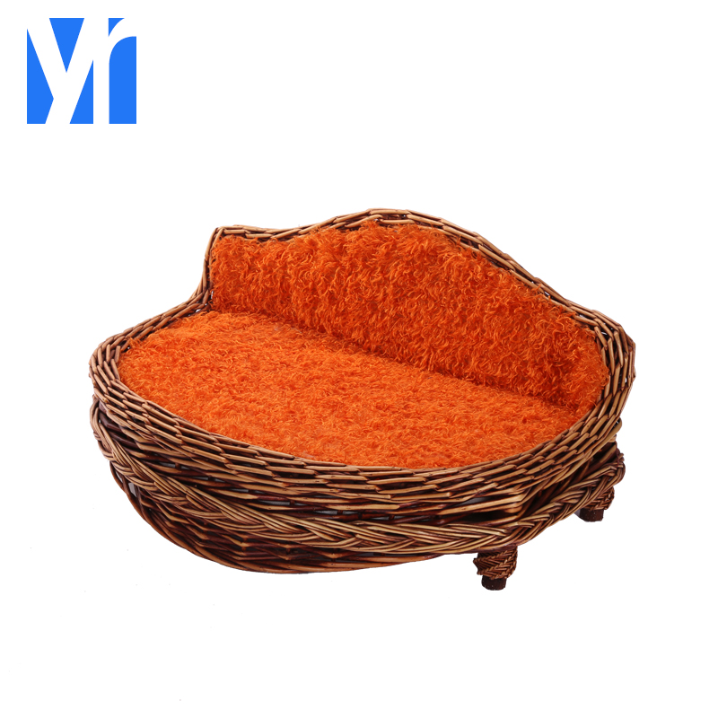 2018 new eco-friendly luxury wicker dog bed cat bed