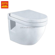 Brand new ceramic one piece closet water saving wash down wall hung toilet with high quality