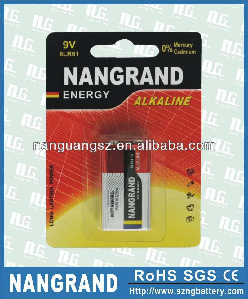 6lr61 / 9v alkaline battery