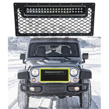 Jeep Accessories 2007-2015 Wrangler Billet Grille With Led Bar