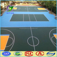 Basketball Court Anti-slip Outdoor Sports PP Interlocking Tiles