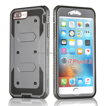 Cell Phone Defender Case With Kickstand Belt Clip Holster Cover for Iphone 7 Plus