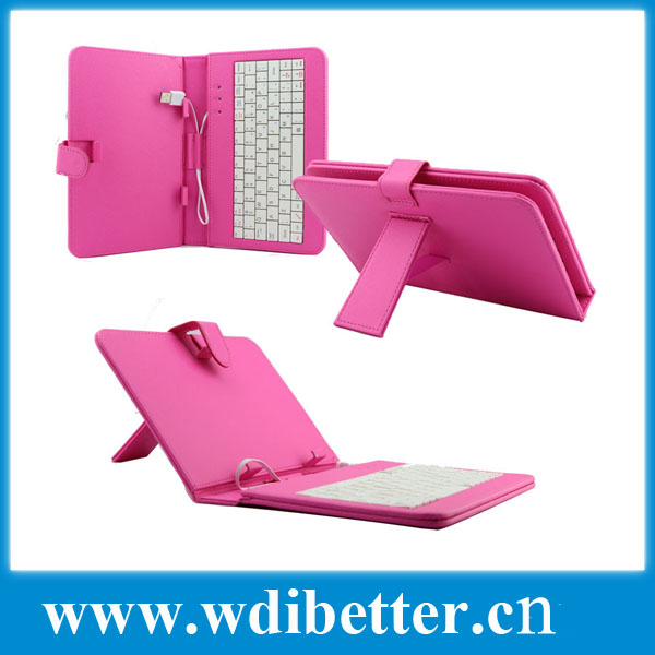 Leather case with usb keyboard bracket for 7 inch Android PC Tablet Netbook