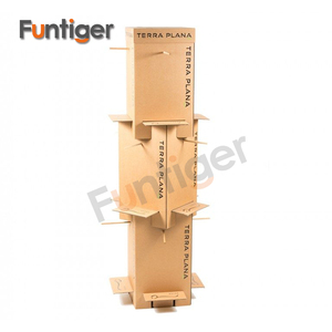New design cardboard stackable hanging display stands